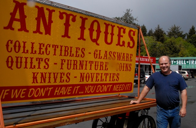 Bob Duby, owner of Streetcar Village Antiques in Lincoln City