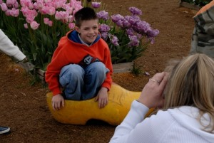 Photo ops at Woodburn Tulip Fest