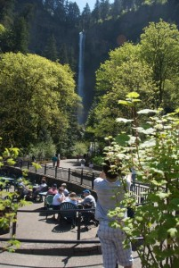 Multnomah Falls Oregon in May