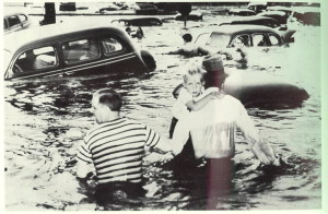 At 4:05 pm on May 30, 1948, a 200-foot (61m) section of dike collapsed that was protecting the 18,500 residents of Vanport City Oregon from the Columbia River. At the time, the city (built in1943 to house workers at the wartime Kaiser Shipyards) was home to World War II veterans and their families.