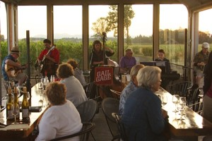 Sipping wine and listening to Gail Gage Jazz at Redgate Vineyard; photo by Jan Jackson