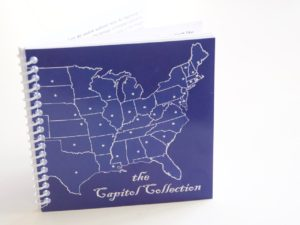 The Capitol Collection -souvenir passport book to all fifty state capitols; photo by Jan Jackson.