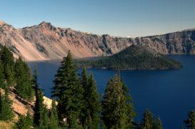 Wizard Island; Crater Lake Klamath County