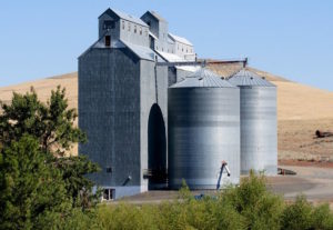 Dufur Wheat silos elevator Wasco County